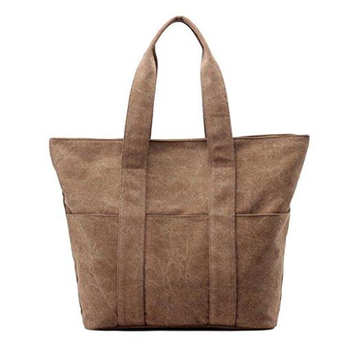 Sucastle sacchetti di svago sacchetto di modo del sacchetto di spalla di tela retro borsa bag Sucastle Colore:marrone Dimensione:40x38x13cm