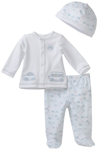Little Me Baby-Boys Newborn Vroom 2 Piece Pant Set With Hat