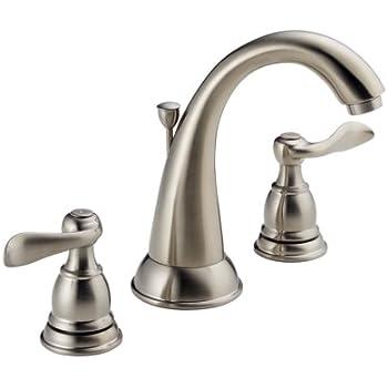 Delta Foundations 35996LF BN Two Handle Widespread Bathroom Faucet, Brushed  Nickel