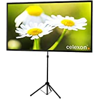 celexon 90 Tripod Projector Screen Ultra Lightweight | 16:9 format | Ultra Portable | 11 lbs weight | Mobile presentation and cinema solution | Projector Screen Size: 78'' x 44''