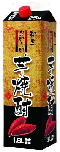 [芋焼酎] 乙焼酎 25度 おいしい芋焼酎 1.8Lパック 12本 (1800ml) (本格芋焼酎) 相生ユニビオ株式会社 B07K85ZCYP