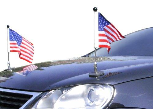 - Pair Magnetic Car Flag Pole Diplomat-1 USA