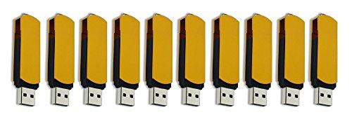FEBNISCTE 100 Pack 512MB Pendrive Gold Swivel Cheap Bulk USB 2.0 Memory Stick by FEBNISCTE (Image #2)