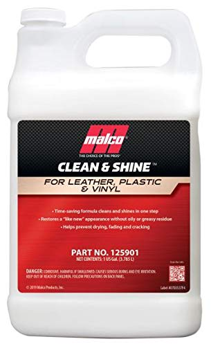 Malco Clean & Shine Interior Cleaner and Dressing, Restores a Like New Appearance, Clean, Condition and Protect in 1 Simple Step, 1 Gallon (125901)