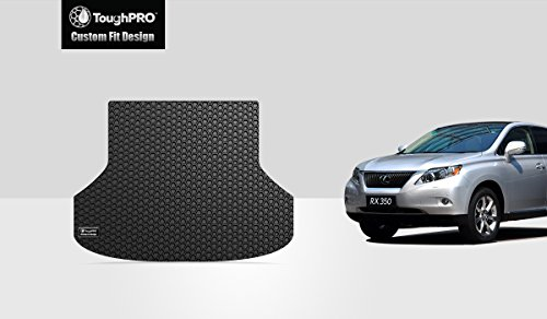 ToughPRO Cargo/Trunk Mat Compatible with Lexus RX350 - All Weather - Heavy Duty - (Made in USA) - Black Rubber - 2016, 2017, 2018, 2019, 2020