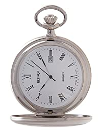 GB21234 - Rhodium Plated - Full Hunter - Quartz Movement - Arabic Dial - White Dial