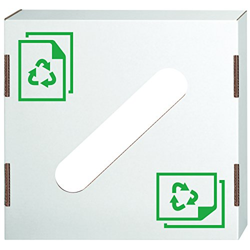 Fellowes Corrugated Box - Bankers Box Corrugated Cardboard Trash and Recycling Container lids, Paper Recycling Icon, 10 Each (7320301)