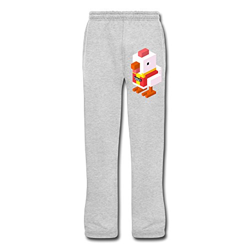 (Cozyou Chicken Cross The Road Men Training Pants Ash)