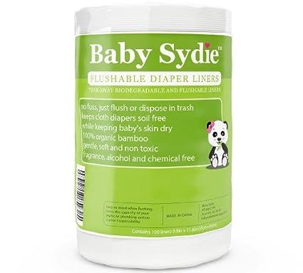 Premium Flushable pañal Liners – desechable/biodegradables Insertos para reutilizable gamuza bebé pañales – mantiene