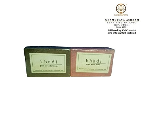 Khadi Pure Lavender Soap And Glycerine Rose Water Soap - ...