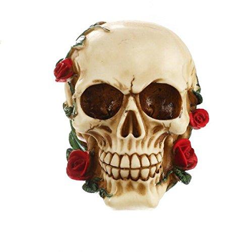 Gothic Skull Figurine Halloween Decorative Resin Collectible Steampunk Rave Cyber Goth -