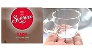 Senseo Classic 1Paquete + Diseño Cristal Taza, Taza de café, Café, Taza, cristal, 200ml, 4unidades, en caja regalo