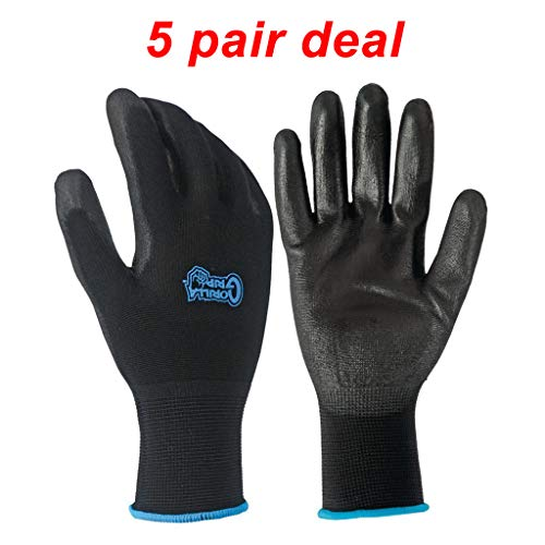 5 Pack Gorilla Grip Gloves - Large