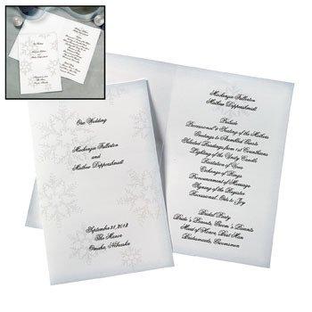 amazon com winter wedding programs stationery stationery