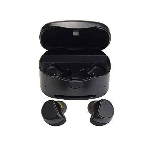 Bluetooth Headphones Sweatproof,HuLorry Wireless Earbuds Sport with Charging Box HiFi Stereo in-Ear Headsets Noise Cancelling fit for Gym Running for iOS Android iPad and Other Bluetooth Device