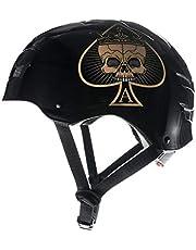 Skullcap® BMX Helm - Skaterhelm - Fahrradhelm - Herren | Damen | Jungs & Kinderhelm Gr. L (58 – 61 cm), Ace of Spades