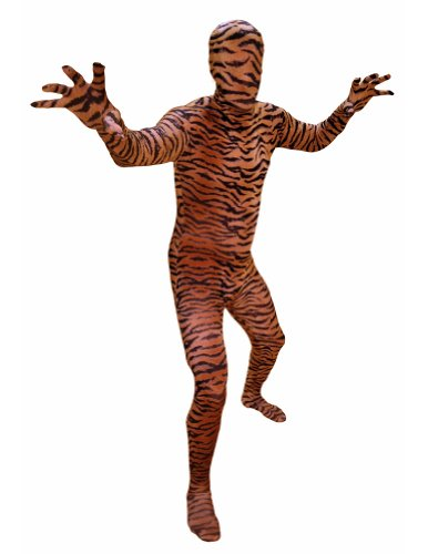 AltSkin Unisex Full Body Spandex/Lycra Suit, Tiger, Medium