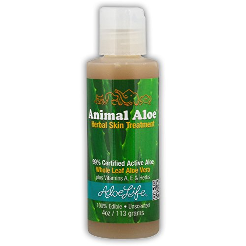 Aloe Life - Animal Aloe, Digestive Aid and Skin Treatment, Soothes Hotspots, Flea Bites and Irritation, Supports Pets Digestive Health and Overall Wellness (Unscented, 4 ()