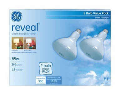 GE 67565 65BR40RVL-TP2 Reveal Bulb 65W R40 Reveal Bulb - 6 Pieces (3x2 Pack)