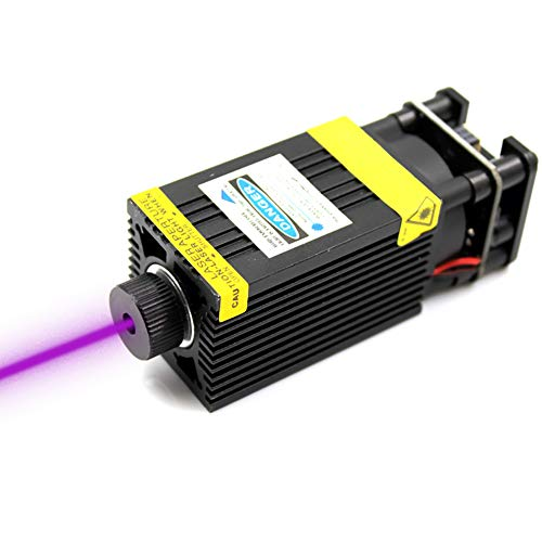 (oxlasers 405nm 500mW laser module 12V focusable purple laser high power blue violet UV laser head for DIY engraving machine with PWM )