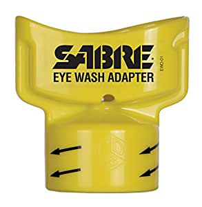 SABRE Eye Wash Adapter - Turns Water Bottle into Eye Wash Device - Flushes Contaminants from the Eye