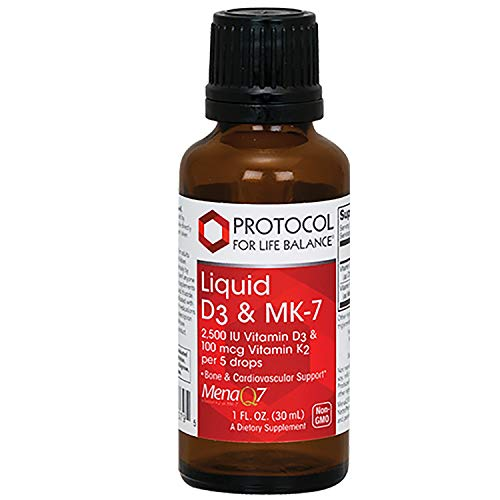 Protocol For Life Balance - Liquid D3 & MK-7-2500IU Vitamin