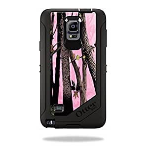 Mightyskins Protective Vinyl Skin Decal Cover for OtterBox Defender Galaxy Note 4 Case cover wrap sticker skins Pink Tree Camo