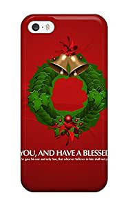 New Jeffrey Goodale Super Strong Coronet And Bells Green Blessing S Xmas Santa Claus Holiday Christmas Tpu Case Cover For Iphone 5/5s