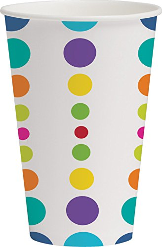 Creative Converting 375834 Birthday Pop! Hot/Cold Cups (8 Count) -12 oz, One Size, Multi Color ()