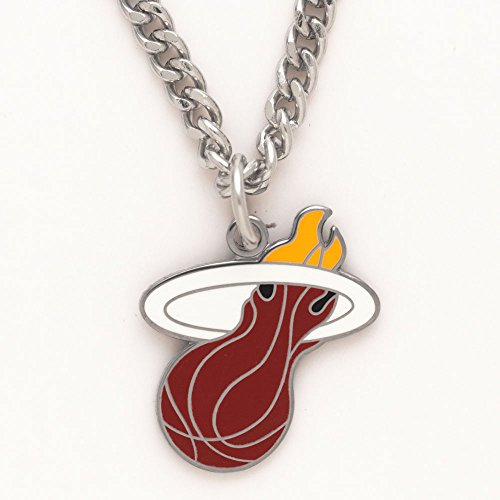 NBA Miami Heat Necklace with Charm Clamshell (Miami Heat Heart)