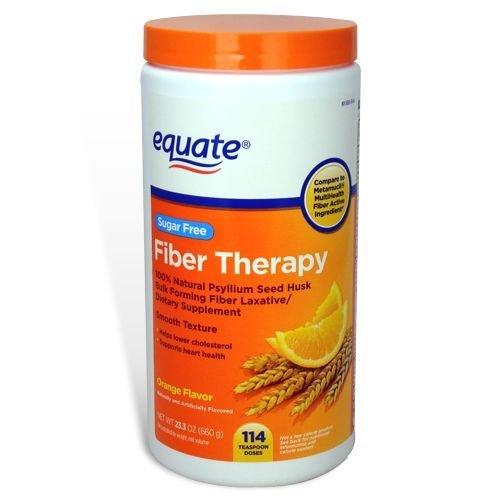 Equate - Fiber Therapy, Sugar Free, Smooth Texture, Orange Flavor, Powder, 23.3 oz, 114 Doses