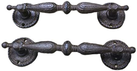 Large Heavy Duty Cast Iron Rustic Garden Gate Shed Barn Pull Door Handle 8 1//4/""