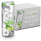 GURU Sparkling Water with Green Tea Infusion, Sugar Free, Zero Calorie, Natural Energy Drink, Lime, 12-ounce (Pack of 12)