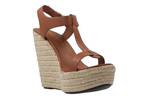 Andres Machado Dames Wedge Sandals - Bruine Schoenen In Meer Dan Maten