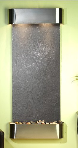 Adagio Inspiration Falls Wall Fountain Black - Hanging Fountain Slate