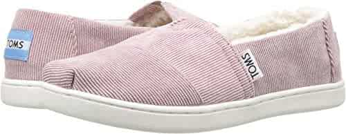 TOMS Kids Girl's Alpargata (Little Kid/Big Kid) Faded Rose Corduroy/Faux Shearling 3.5 M US Big Kid