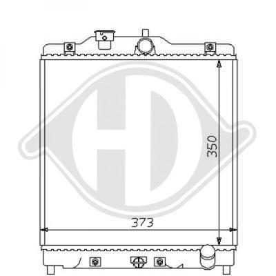 Diederichs DCM2164 Radiator, radiator: