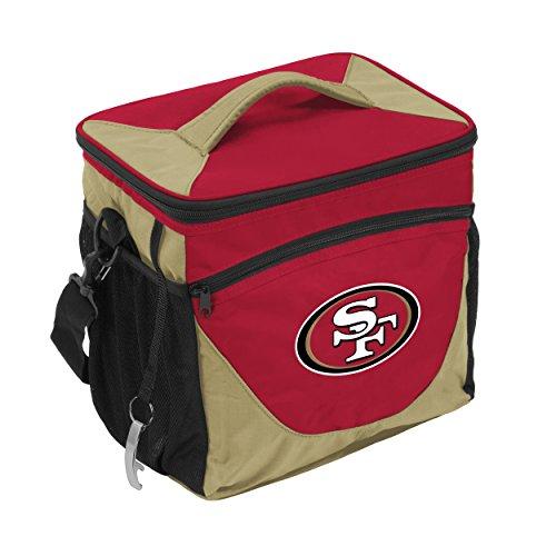 Logo Brands NFL San Francisco 49ers 24 Can Cooler, One Size, Black by Logo Brands