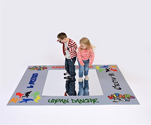Urban Dance Mat Deluxe with Polystyrene Mirror 200 x 150cm (Mat & mirror only) by Be-Active by Be-Active Ltd