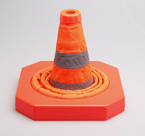 Cartman Collapsible Traffic Cone 15,5 Inches, Multi Purpose Pop up Reflective Safety Cone (4PK) by CARTMAN (Image #3)