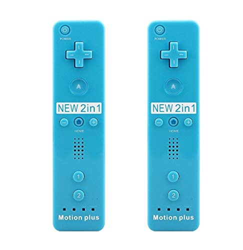 (SIBIONO - Wii Remote Motion Plus Controller (2 Packs) for Nintendo Wii&Wii U Video Game Gamepads. (Blue))