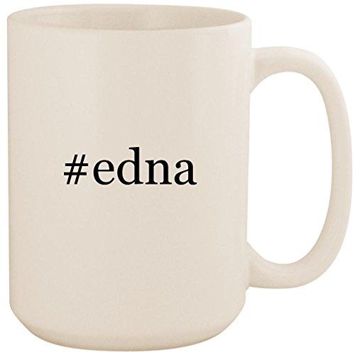 #edna - White Hashtag 15oz Ceramic Coffee Mug Cup]()