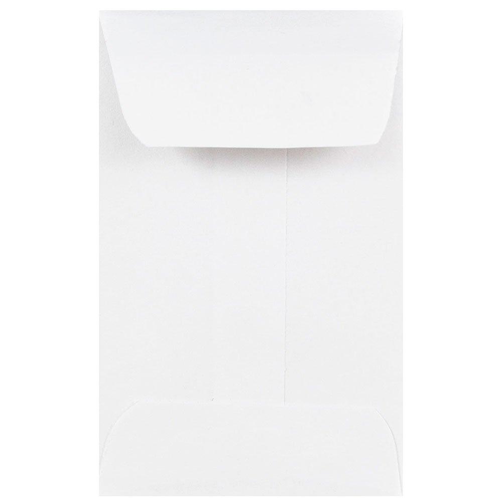 """JAM Paper #1 Coin Envelope - 2 1/4"""" x 3 1/2"""" - White - 25/pack"""