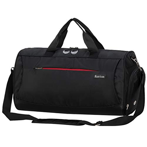 bc711f33d56b Kuston Sports Gym Bag with Shoes Compartment Travel Duffel Bag for Men and  Women