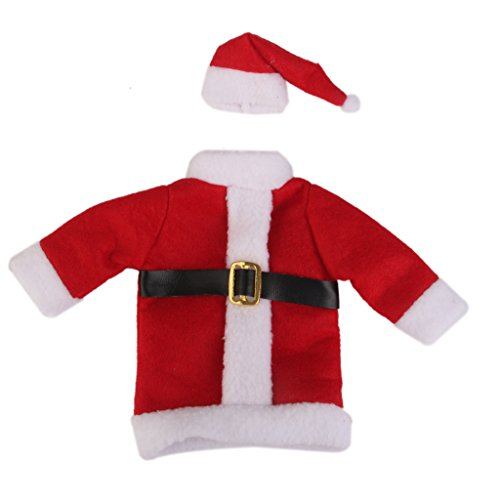 Christmas Santa Suit Hat Wine Bottle Wrap Cover Topper Pouch Bag by Generic (Style 1)