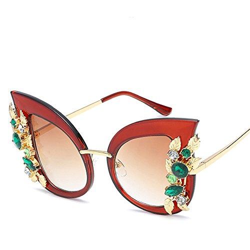 Tendencia del Marco Gafas la Gato la Gafas Diamante Marco de de de de la Moda Sol del del Ojo Las Sol de de del Gafas RFVBNM Grandes C de Sol Personalidad C Nuevas Mujeres qSnBFWP4S