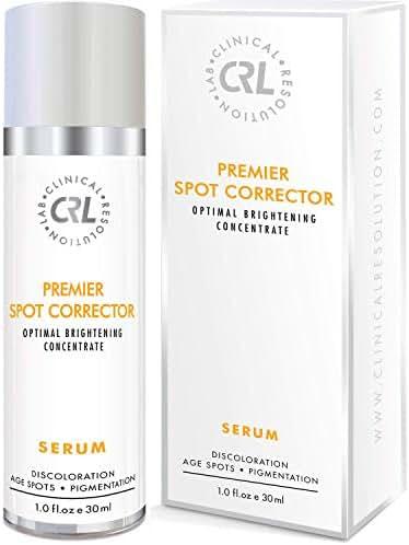 CRL Premier Spot Corrector Serum 1fl.oz/30m, Differin Gel Dark Spot Corrector for Face, Skin Brightening Serum Help Age Spot Remover for Face, Skin Bleach Hyperpigmentation Treatment