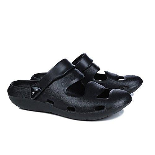 Plano el de de tamaño Negro hasta 45EU 2018 Mulas Las Planas de del Sandalias de Hombres talón Color Las Dedo Cerrado los sólido Sandalias de Sandalias xXqEqwgB6