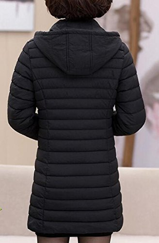 UK Down today Lightweight Black Long Packable Sleeve Hooded Womens Solid Jacket 4awdax1q