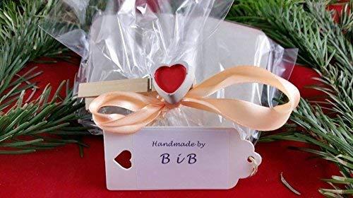 Geburtstag oder auch zu anderen Anl/ässen. Taufe Ein ausgefallenes Geschenk zur Geburt Beton Steinguss Buchstaben 3 D Deko Schriftzug Namen LIOBA mit Stern und Herzklammer als Geschenk verpackt